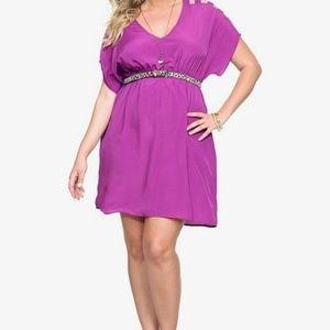Torrid • Purple Ladder Cutout V-Neck Dress  2x